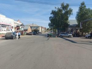 В Борском районе вордитель сбил мотоциклиста