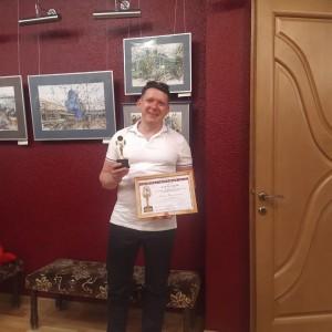Награда была вручена Роману за роль Страфореля в спектакле «Романтики» по пьесе Э.Ростана, премьера которого состоялась в ноябре 2019 года.