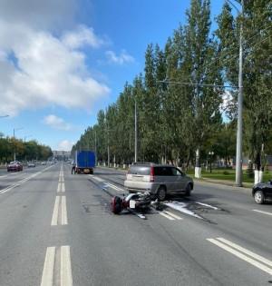 На Московском шоссе в Самаре в ДТП пострадал мотоциклист