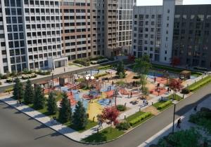 В Куйбышевском районе Самары строят инклюзивную детскую площадку, зону отдыха и спортзал под открытым небом