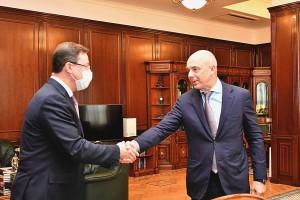 Губернатор Самарской области и министр финансов РФ Антон Силуанов обсудили вопросы социально-экономического развития региона