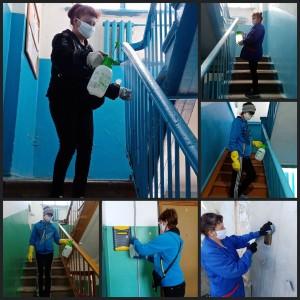 В Самаре усилен контроль за санитарной обработкойподъездов жилых домов