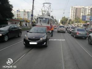В Самаре произошло ДТП с участием трамвая