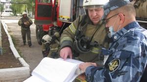 Согласно пожарно-тактического замысла в 10:00 подана вводная «условный пожар на объекте отряда №1».