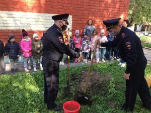 В Самарской области полицейские высадили вечнозеленые деревья в память об участниках Великой Отечественной войны.