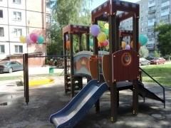 Современный игровой комплекс появился во дворе дома благодаря победе ООО «УК № 1 ЖКХ» в акции «Лучшие УК и ТСЖ-2019»