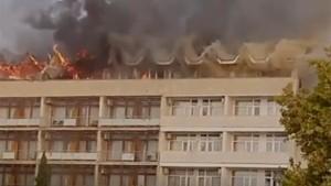 Названа предварительная причина пожара в военном санатории «Ялта»