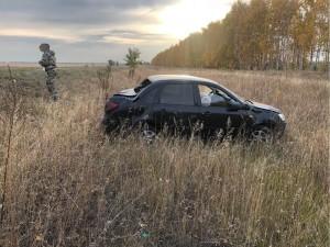 Автомобилистка в Самарской области перевернулась в кювет
