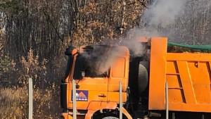 В Самарской области прямо на ходу загорелся КАМАЗ