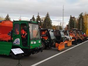 Прошел общегородской парад техники, предназначенной для борьбы с непогодой в зимних условиях