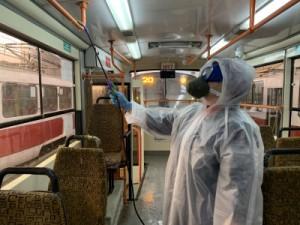В Самаре общественный транспорт проходит процедуру санобработки не менее трех раз за сутки