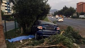Водитель практически не пострадал. После аварии его задержали.