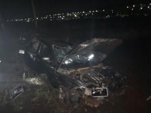 В Самарской области легковушка улетела в кювет, пострадали трое