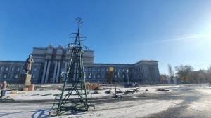 На площади Куйбышева в Самаре появится25-метровая елка