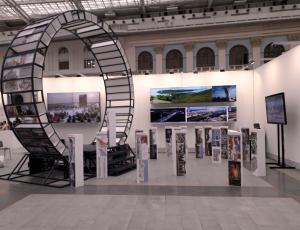 Экспозиция Самарской области была посвящена пространственному развитию Самары и Самарско-Тольяттинской агломерации.