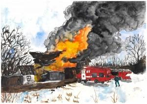 Юная самарчанка стала победительницей конкурса рисунков МЧС России