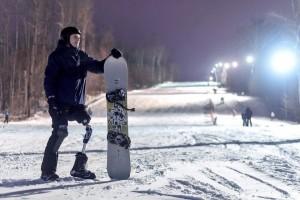 """2 января 2020 года Сергей провел первую тренировку на горнолыжном комплексе """"СОК"""" на Красной Глинке."""
