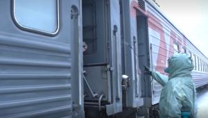В Ульяновске был сформирован военный эшелон, которым военнослужащие отправились в воинские части. Поезд проследует до Приморского края.
