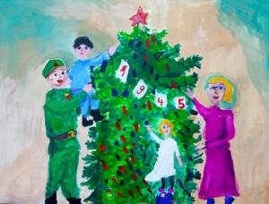 Юные художники Самарской области прислали около 10 работ на всероссийский детский конкурс «Нарисуй «Елку Победы».