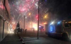 Пожар наростовском рынке стал причиной роскошного фейерверка