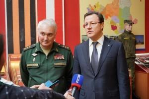 Губернатор Самарской области и Замминистра обороны РФ осмотрели Дом офицеров Самарского гарнизона