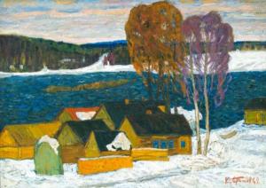 Он является одним из основателей Владимирской школы живописи. Картину обнаружили на пепелище среди груды строительного мусора.