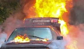 Полицейские установили личность предполагаемого поджигателя.