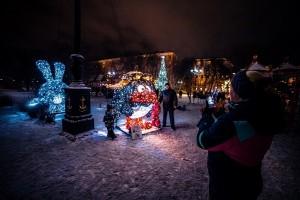 Улицы Самары в новогодние праздники украсят инсталляции Смешариков