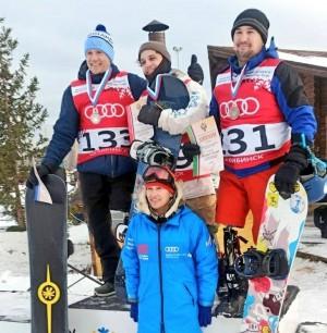 На чемпионате России по парасноуборду.