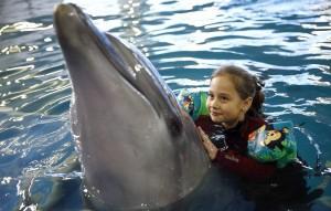 Семилетняя Алина также посетила Центр гимнастики Ирины Винер-Усмановой.
