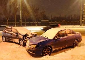 В Самаре столкнулись три машины, пострадал ребенок