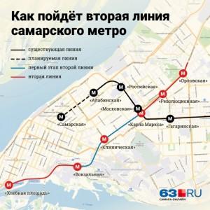 Вторую ветку метро в Самаре предложили ограничить пятью станциями