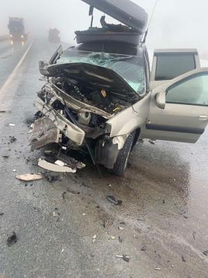 ДТП с лобовым столкновением произошло в Сергиевском районе