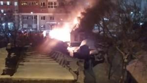 В Самаре на ул. Буянова горел частный дом