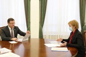 Дмитрий Азаров провел рабочую встречу с руководителем УФНС России по региону Ольгой Криковой.