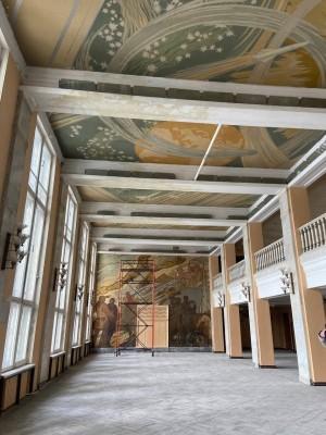 Поскольку здание дворца творчества – памятник истории и культуры регионального значения, элементы отделки и его внутренний декор являются предметом охраны.