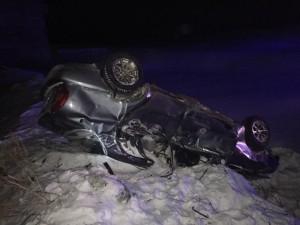 В Шигонском районе машина перевернулась в кювет, пострадали двое