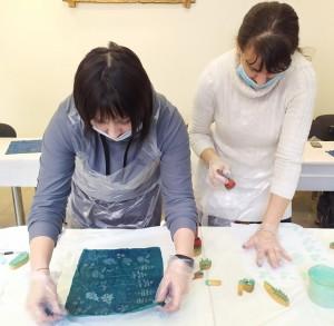 Состоялся Областной семинар-практикум Кубовая набойка по ткани
