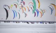 В Тольятти в эти дни проходят международный соревнования по сноукайтингу «Марафон «Жигулёвское море-2021»