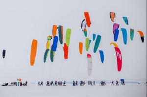 Международные соревнования по сноукайтингу в Тольятти вышли на финишную прямую