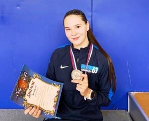 В финале она уступила сопернице из Московской области - 13:15.