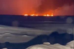 Пожар на реке Оби: горит нефть из-за аварии на трубопроводе