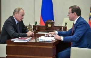 """Путин отметил, что строительство Волжского моста как части транспортного коридора """"Европа - Западный Китай"""" отразится на государственном сотрудничестве """"самым наилучшим образом""""."""