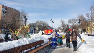 Сквер на улице Авроры менее чем за полгода стал любимым местом для прогулок и проведения мероприятий.