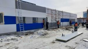 На территории больницы имени Середавина в Самаре строится новый модульный корпус для пациентов с коронавирусом