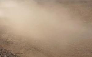 Москва утонула в пыльном облаке