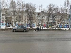 Легковушка и мотоцикл столкнулись в Самаре