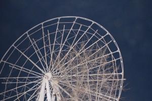 В парке Победы в Самаре разбирают старое колесо обозрения