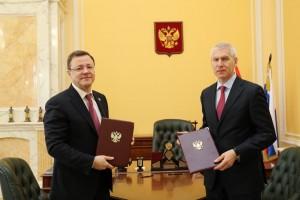 Стороны обсудили развитие спорта в Самарской области.