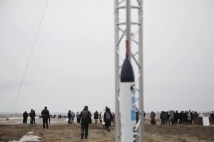 Самарские студенты в честь 60-летия полета Юрия Гагарина запустили модель экспериментальной ракеты